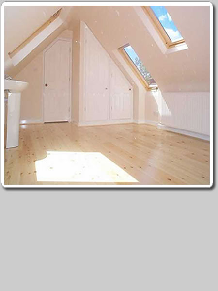Photo of standard loft conversion with roof windows